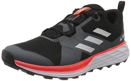 adidas Terrex Two, Zapatillas Deportivas Hombre, Core Black/FTWR White/Solar Red, 44 EU