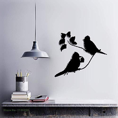 Vivityobert Pájaros en la flor del árbol de la rama para