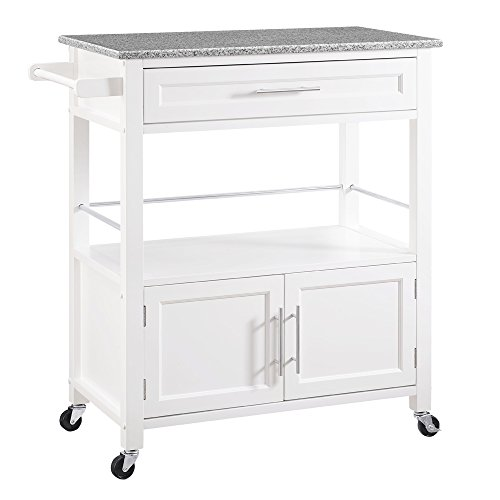 Linon Kyler White Kitchen Cart