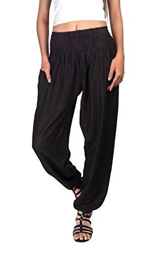 Joob Joob Women's Comfy Bohemian Harem Loose Yoga Pants Casual Hippie Pajama Lounge Boho Elephant Pajama Pants