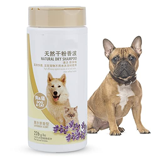 Semiter Polvo de Limpieza en seco para Mascotas, Champú para Mascotas sin Agua Champú seco para Perros para Perros