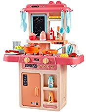 Zest 4 Toyz 36 PCS Battery Oprated Kitchen Set for Kids, Pretend Play Kitchen Toy Set for Kids   Kitchen Set for Kids Girls (Multicolor)