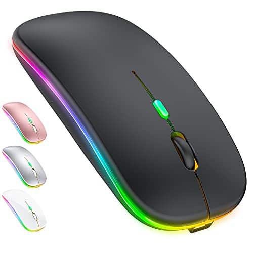 LED Bluetooth Mouse for Laptop iPad MacBook pro Wireless Mouse for Laptop MacBook Air Mac Chromebook