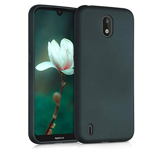 kwmobile Hülle kompatibel mit Nokia 1.3 - Hülle Handy Metallic Petrol