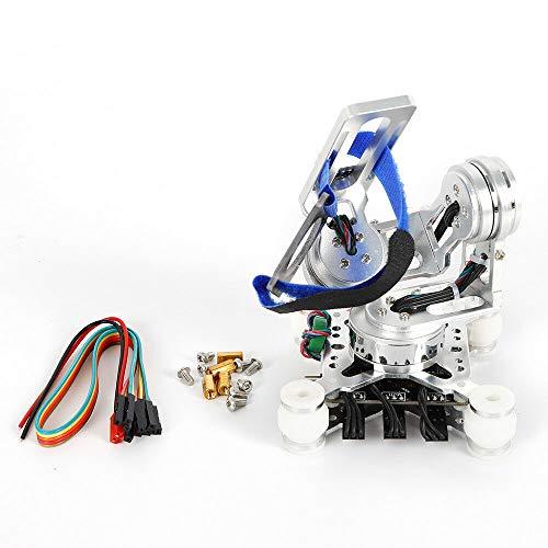 DiLiBee 3-assige borstelloze kop Gimbal stabilisator camerahouder Storm32 BGC-controller + sensor voor GoPro 3 4, wit