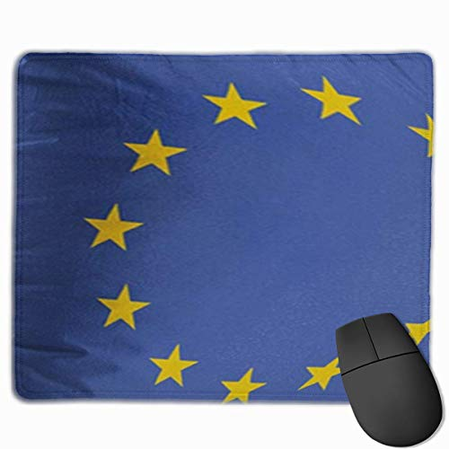 Bonita alfombrilla de ratón para juegos, alfombrilla de escritorio, alfombrillas de ratón pequeñas para ordenadores portátiles, alfombrilla para ratón Azul Europa Bandera de la Unión Europea UE Color