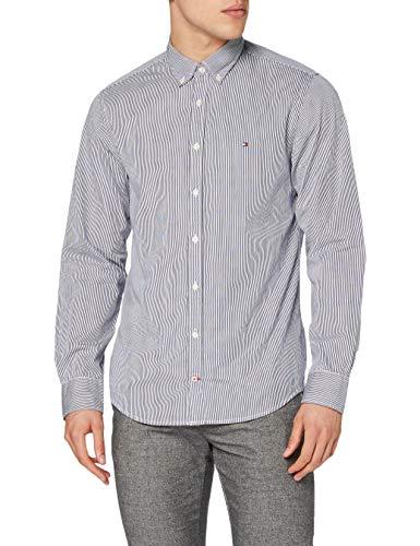 Tommy Hilfiger Herren CORE Stripe Shirt Freizeithemd, Mehrfarbig (Peacoat/Bright White 902), XX-Large