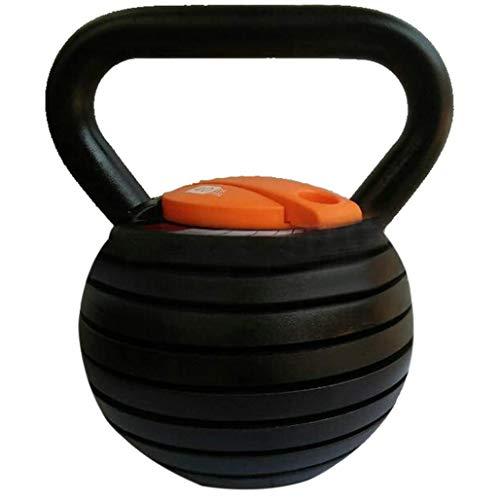 DPPAN Fitness-kugelhantel, Aus Gusseisen Mit Vinylbeschichtung Verstellbare Professional Kettlebell rutschfest, Fürs Krafttraining Und Cross Training,Black_18kg/39.68lb