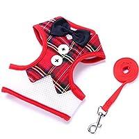 小型犬の首輪犬テディのベストドレスの弓ベルトハーネスペット用品 (Color : 7, Size : M号)