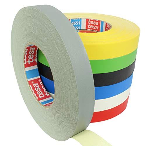 Tesa 4651 Premium Gewebeband verschiedene Breiten und Farben wählbar/grau 19 mm x 50 m