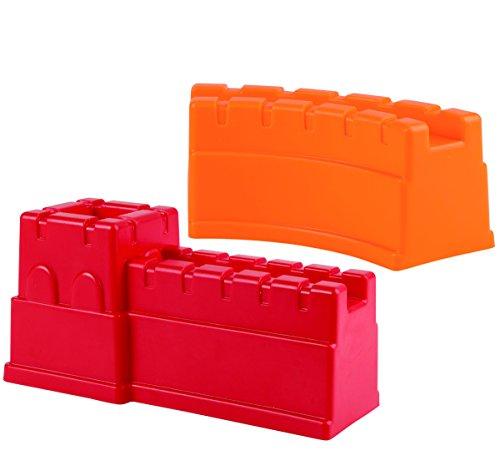Hape E4081 - Chinesische Mauer, Strandspielzeug/Sandspielzeug, rot/orange