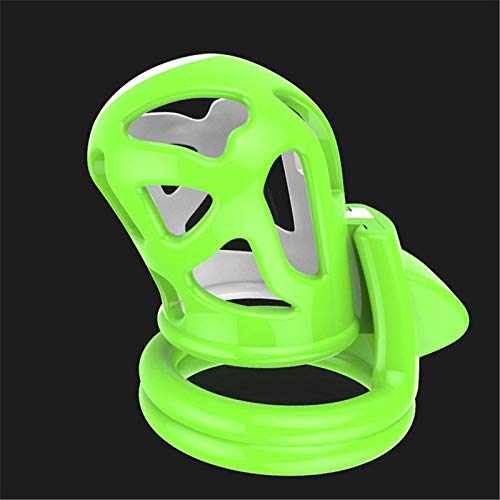 LHJtt A Set Plastic Ḉock Cage Trainer Male Chastities Lock for Men Chastity Plug Slave Sexual Enhancers Chasity Short Cook Large Small Belt Sunglasses Yoga (Color : Green(a Set))
