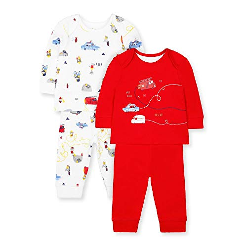 Mothercare Io B Rescue 2pk Pjs Pigiama, Nero (Red 51), Early Baby (Manufacturer Size:2.3) Unisex-Bimbi