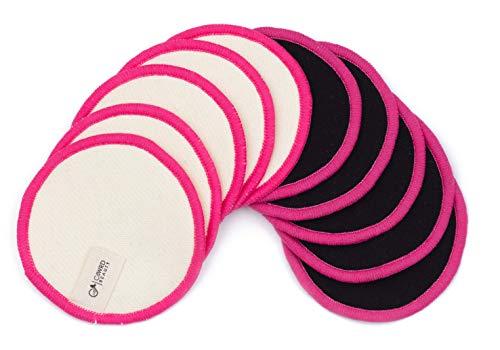 C4wrd ™ set di 10 dischetti struccanti riutilizzabili in canapa di bambù lavabili in un sacchetto per biancheria a max. 60 ° C