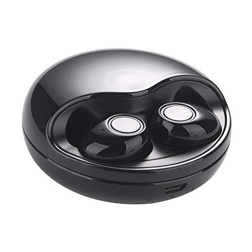 DHB Bluetooth Kopfhörer,Wslhcsure Bluetooth Kopfhörer Kabellos V5.0 Touch Bluetooth Headset Sport Ohrhörer Wireless In Ear Kopfhörer,Black