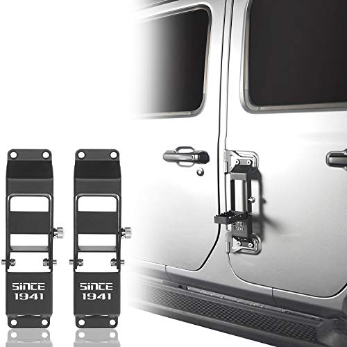 Hooke Road Door Hinge Step Foot Pedal w/1941 Sign Compatible with Compatible with Jeep Gladiator...