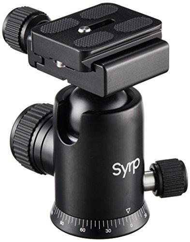 Syrp kogelkop - met snelwisselplaat - 3/8 inch schroefdraad en 2 waterpassen - compatibel met de meeste DSLR's en spiegelloze camera's - aluminium