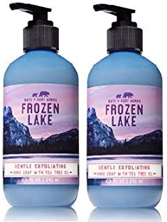 Bath and Body Works 2 Pack Gentle Exfoliating Hand Soap Frozen Lake. 8 Oz.