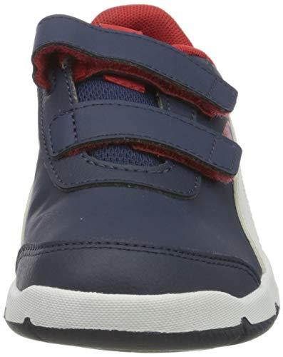PUMA Stepfleex 2 SL VE V Inf, Zapatillas, Azul Peacoat White Flame Scarlet, 26 EU