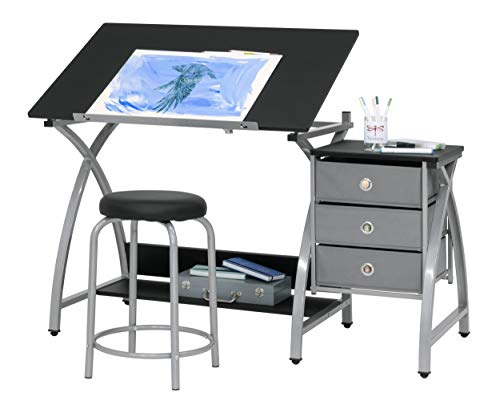 2 Piece Comet Art, Hobby, Drawing, Drafting, Craft Table with 36'W x...