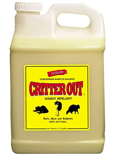 Mouse & Rat Repellent: Peppermint Oil Rodent Repellent, Get Rid of Rats, Mice & Rodents in Your Home & Outside, Protect Engine Wiring, Prevent Nesting, Stops Chewing. Critter Out 2.5 Gal Concentrate