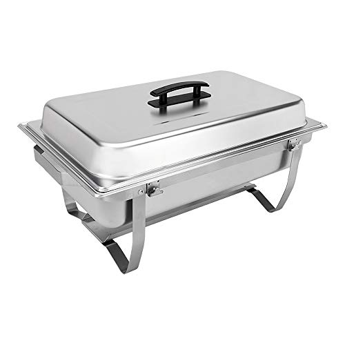 Sterno Products Foldable Frame Buffet Chafer Set, 8 qt, 8 quart, Silver
