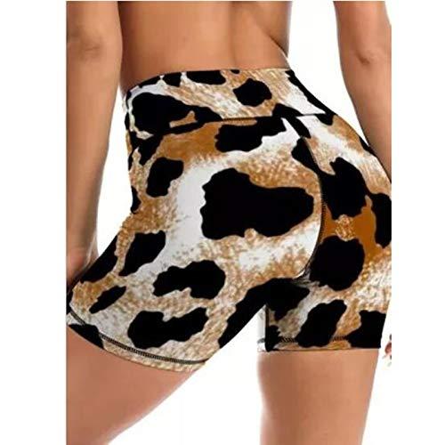 Cloodut Pantalones de deporte de cintura alta para mujer, pantalones de yoga, leggins, pantalones de fitness, opacos, leggings elásticos Tummy Contro, pantalones largos para correr (marrón, L)