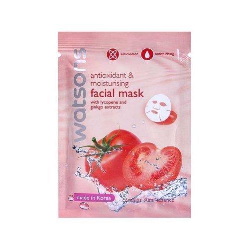 [Wazashop] Watsons Antioxidant & Moisturising Facial Mask with Lycopene and Ginkgo Extracts 30 Ml./Pcs. (3 Sheets)