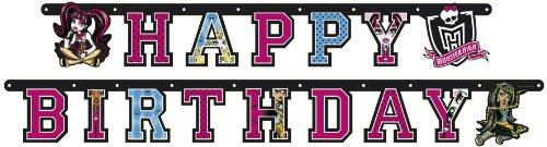 Monster High - R552252 - Kit De Fête - Chaînette Déco - Happy Birthday - 180 X 15 Cm