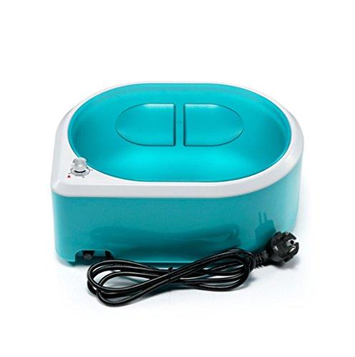 Calentador de parafina Spa mano y pie cera cuidado máquina de parafina Calentamiento rápido Cuidado de la piel del baño de manos y pies,Blue