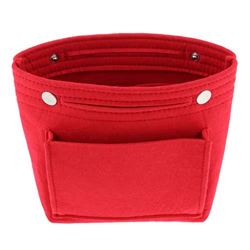 joyMerit Bolso de Moda para Mujer, Organizador, Monedero, Almacenamiento de Cosméticos, Gran Capacidad - rojo, tal como se describe
