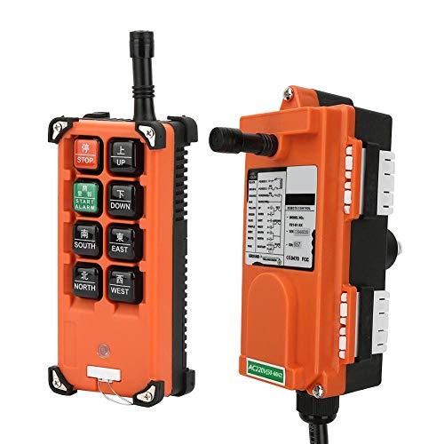 Remote Control, Electric Lift Hoist Radio Wireless Button Switch Remote Controller, for Industrial Control Bridge Crane/Overhead Crane
