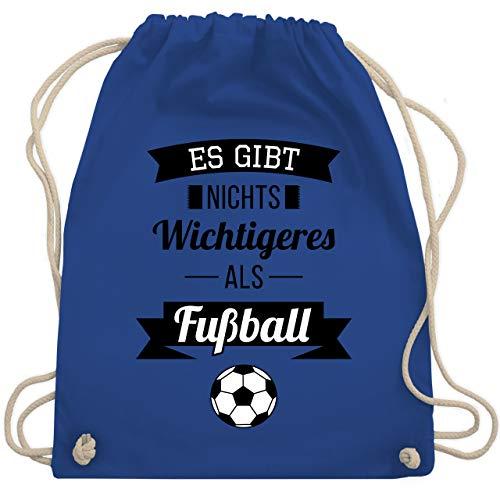 Shirtracer Fussball EM 2021 Fanartikel - Es gibt nichts Wichtigeres als Fußball - Unisize - Royalblau - beutel fussball - WM110 - Turnbeutel und Stoffbeutel aus Baumwolle