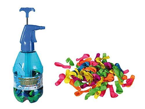 Out of the blue 43/8992 Lot de 250 Bombes à Eau avec Pompe en Plastique Multicolore