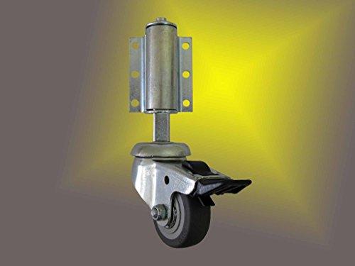 Leiterlenkrolle - Lenkrolle mit Feststeller - Leiterrolle - Federrollen - Radø50mm Leiterrolle gefedert