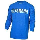 Yamaha OEM Pro Fishing 100% Cotton Long Sleeve Blue T-Shirt Large
