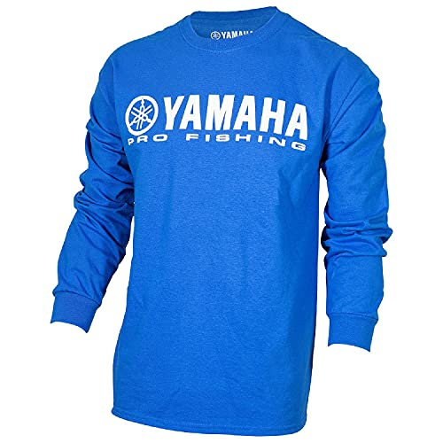 OEM Yamaha Pro Fishing T-Shirt aus 100 % Baumwolle, langärmelig, Größe XL, Blau