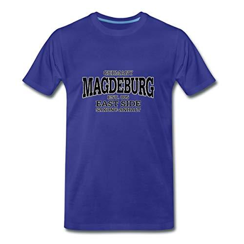 Magdeburg Sachsen Anhalt Retro Männer Premium T-Shirt, XL, Königsblau