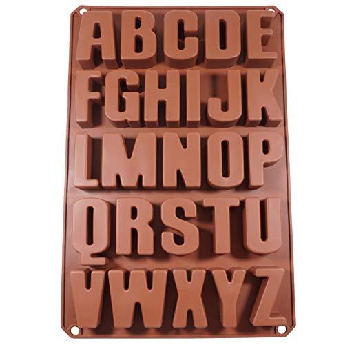 Seifenprofis 26 Buchstaben Silikonform Seifenform Backform Schokoladenform 41x27x3CM