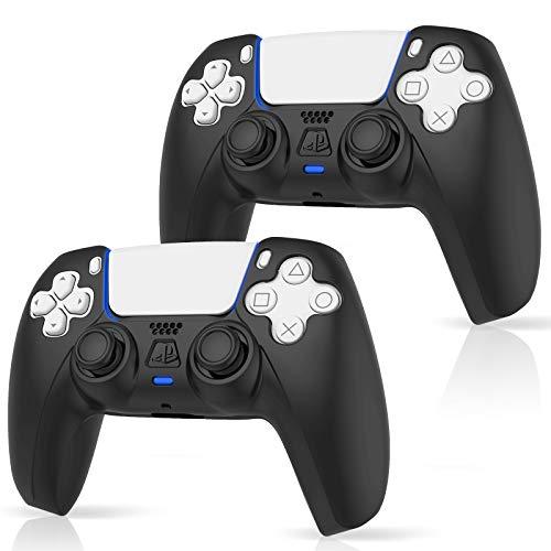 ProCase 2 Fundas para Mando PS5 DualSense Consola, Protector de Silicona para Playstation 5 DualSense Controller, PS5 Controller Skin Grip - Negro