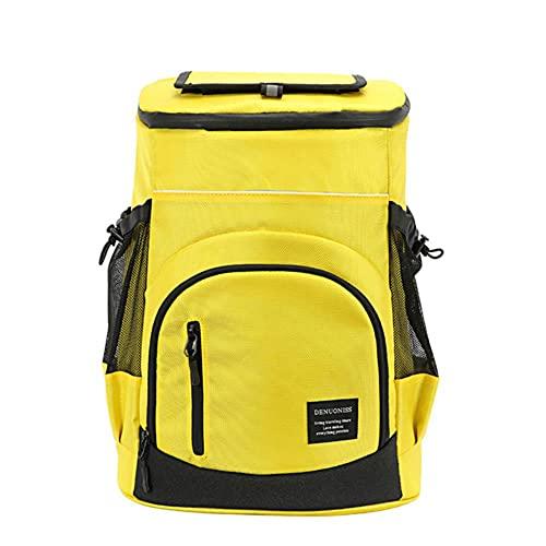 33L Bolsa de refrigerador suave 36 latas Aislamiento Frigorífico Mochila Termal Isotermia Frigorífico Viaje Bolsa de cerveza-Yellow