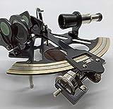 Peerless Sextant Instrument Sextant Real | Sextante Astrolabe | Trabajo Sextante | Bronce Antiguo Nautico Senderismo Metal Marine Tool