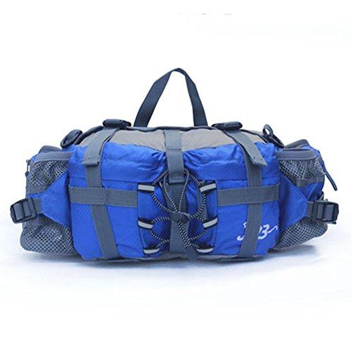 Outdoor Peak Unisex de nylon impermeable de la cintura bolsa de viaje Mochila One Size Blue 2