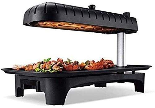 Grill 1500 Watt Teflon Coated gemakkelijk schoon te maken bij de eettafel elektrische grill met antiaanbaklaag Elektrische bakblik Elektrische grills hsvbkwm (Upgrade) QIANGQIANG