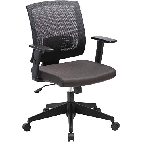 Lorell Soho Mid-Back Task Chair, Black