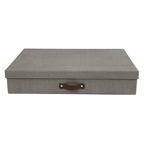 Bigso Sverker Canvas Fiberboard Legal/Art Storage Box, 3.3 x 17.1 x 12.2 in, Grey