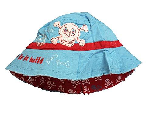 Hatley Jungen LBH Children's Bucket Hat-Skulls Mütze, Mehrfarbig (Red/Blue), 116...