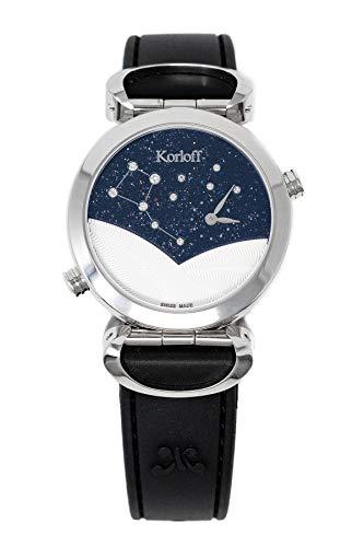 Korloff Diamond - Orologio reversibile con 2 fusi orari, in madreperla, quadrante LE1/2D
