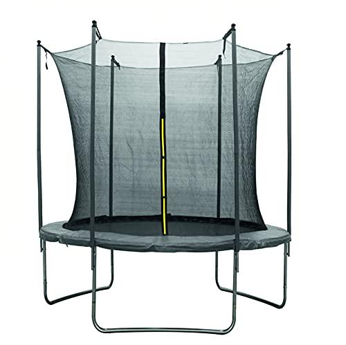 Cama elástica para exteriores | Red de seguridad – Cama elástica para niños de hasta 50 kg | Resistente a la intemperie – Cama elástica de jardín | 183 cm 6 pies | Escalera y cubierta de bordes