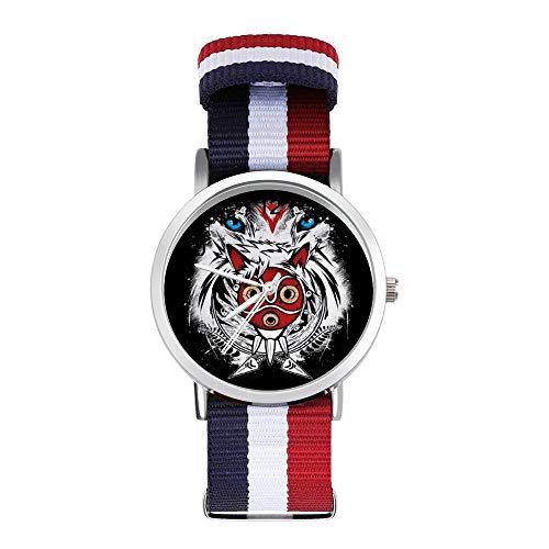 Princesa Mononoke Forest Spirit Protector Leisure Correa Relojes Trenzado con Escala